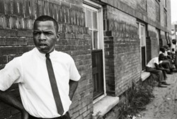"""John Lewis, Clarksdale Miss"" by Steve Schapiro, 1963. Copyright of the artist and courtesy of Laney Contemporary, Savannah, and Jackson Fine Art, Atlanta."