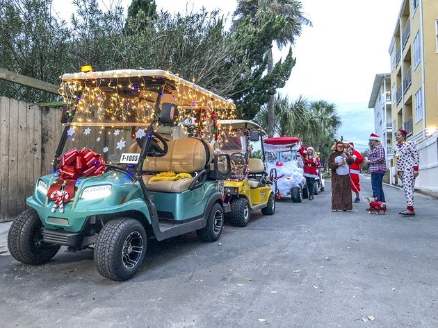 Tybee Island's semi-sanctioned Christmas Caravan on Dec. 4 inspired locals to festoon their golf carts with strings of lights and other jolly decorations.