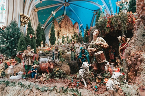 The model of Biblical scenes within Savannah's Cathedral Basilica of St. John the Baptist, as seen decorated for Christmas. - ADRIANA IRIS BOATWRIGHT