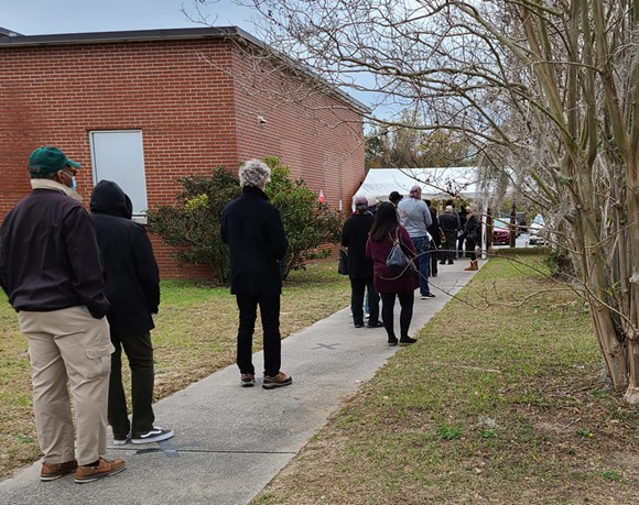 Chatham County residents line up to vote early on Dec. 15 at the Board of Registrars office. - TAYLOR CLAYTON/CONNECT SAVANNAH