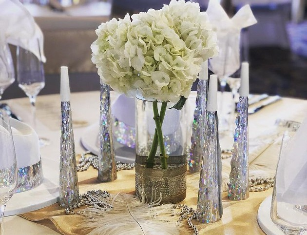 An elegant table setting aboard the Savannah Riverboat's New Year's Eve party cruise. - COURTESY OF SAVANNAH RIVERBOAT CRUISES