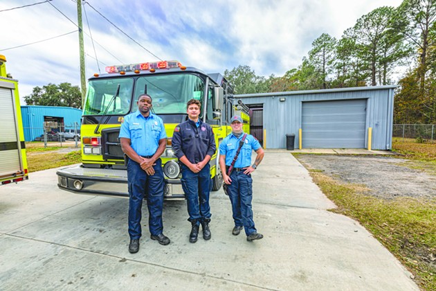Chatham Emergency Services rescue workers between calls at Fire Station 13 on Quacco Road. - ALEX NEUMANN/CONNECT SAVANNAH