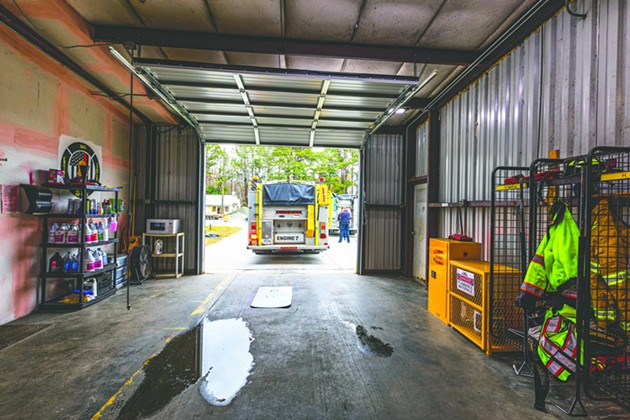 The interior of Chatham Emergency Services Fire Station 13 on Quacco Road. - ALEX NEUMANN/CONNECT SAVANNAH