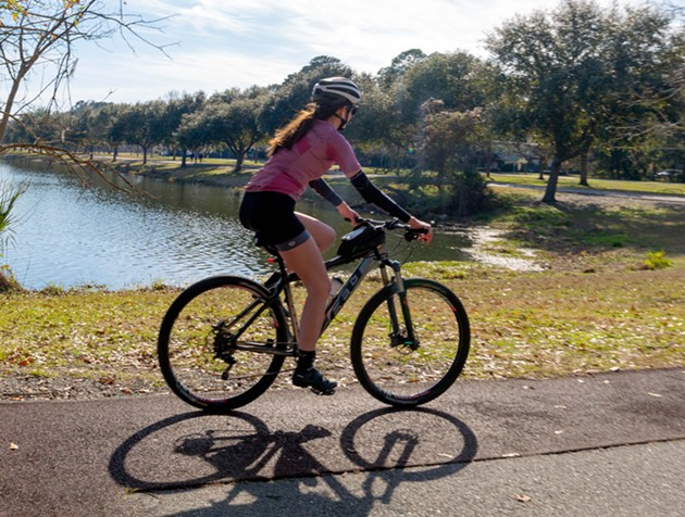The free fitness course at Lake Mayer Community Park can be completed on foot or by bicycle. - ADRIANA IRIS BOATWRIGHT