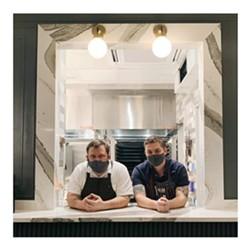 Common Thread chefs Brandon Carter and John Benhase. - JOHN PARK