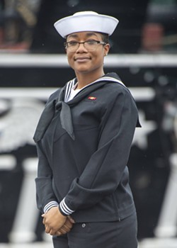 U.S. Navy Airman Tasheyana Harden, a Savannah native now serving aboard the USS Constitution. - COURTESY OF USS CONSTITUTION PUBLIC AFFAIRS