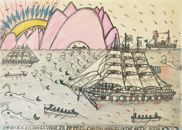 A picture by folk artist William O. Golding acquired by the Telfair Museums in 2020. - COURTESY OF TELFAIR MUSEUMS