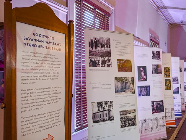 The Massie Heritage Center exhibit honoring W.W. Law highlights the Negro Heritage Trail, an educational walking tour in Savannah. - COURTESY OF THE MASSIE HERITAGE CENTER