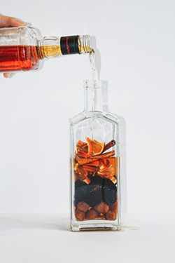 To make cocktail infusions created by Savannah-based Fête, just pour your favorite spirit into the bottle of ingredients and wait. - MARGUERITE SECKMAN