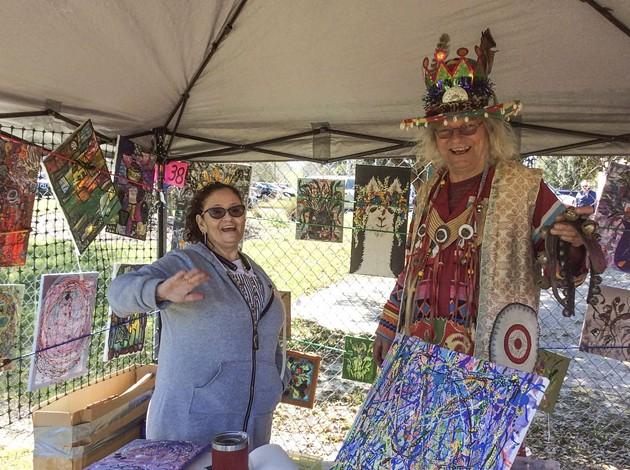 Local artists greet visitors at the Savannah Local Artist Market. - PHOTOS COURTESY OF SLAM