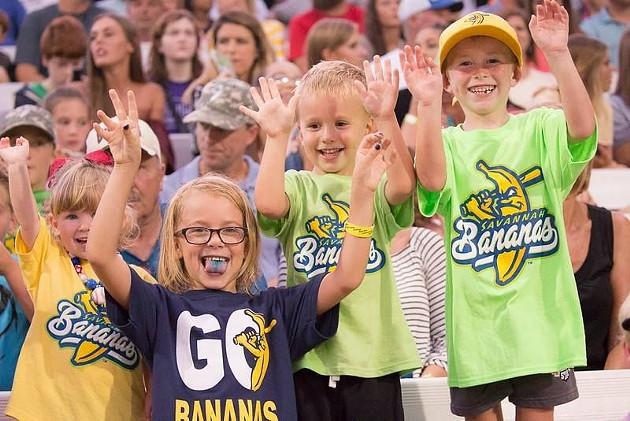 Fans of all ages celebrate during a Savannah Bananas game at historic Grayson Stadium. - PHOTO COURTESY OF THE SAVANNAH BANANAS