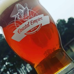 The Cobblestone, an Irish red ale with an ABV of 6.2%. - PHOTO COURTESY OF COASTAL EMPIRE BREWING COMPANY