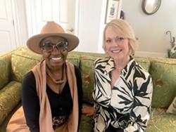 Savannah Jazz Association Executive Director Paula Fogarty and jazz vocalist Dolette McDonald anticipate the return of live events. - PHOTO BY FRANK RICCI