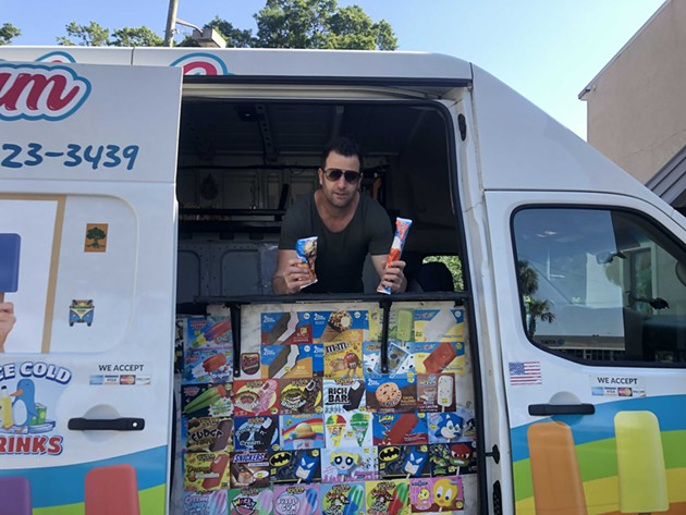 Dotan Organ displays ice cream offered out of his mobile Toti Ice Cream truck. - PHOTO COURTESY OF TOTI ICE CREAM
