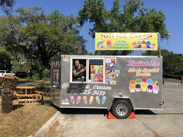 Dotan Organ works out of his mobile Toti Ice Cream trailer. - PHOTO COURTESY OF TOTI ICE CREAM