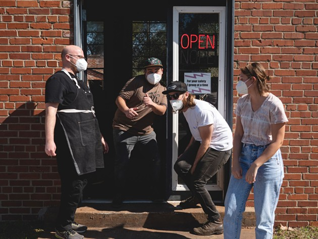 The Perc Coffee team members celebrate the opening of the local Savannah locations. - PHOTO COURTESY OF PERC COFFEE