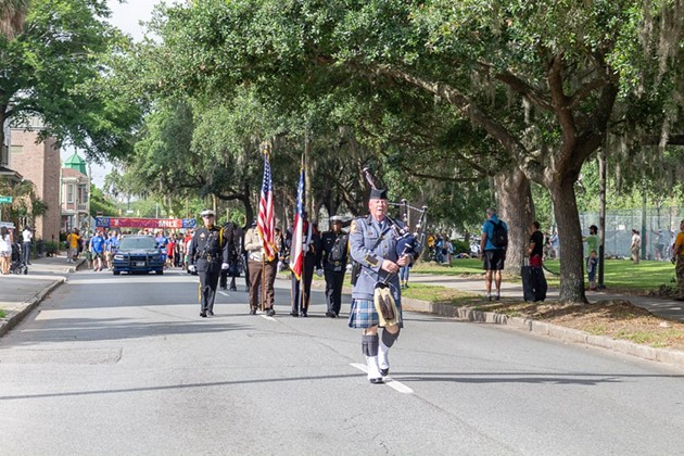 Race participants lead the Memory Walk at a previous year's Run for Heroes. - PHOTOS COURTESY OF THE 200 CLUB