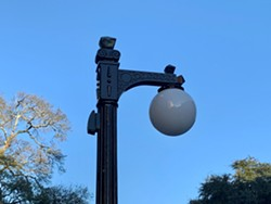 New lightpoles line the newly and continuously constructed Broughton St. - PHOTO COURTESY OF CITY OF SAVANNAH