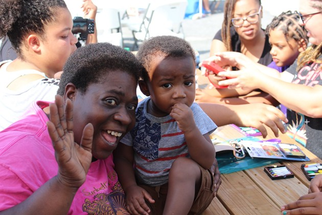 A family attends a Family Promise event. - PHOTO COURTESY OF FAMILY PROMISE NATIONAL