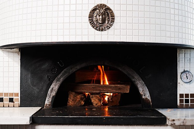 The oven in the pizza restaurant in Starland yard is prepped for cooking. - PHOTO COURTESY OF PIZZERIA VITTORIA