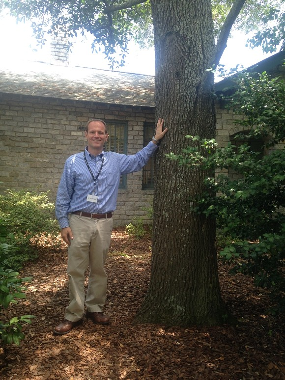"""City of Savannah Park & Tree Director Gordon Denney takes a """"glass half full"""" attitude to managing the aging tree canopy."""