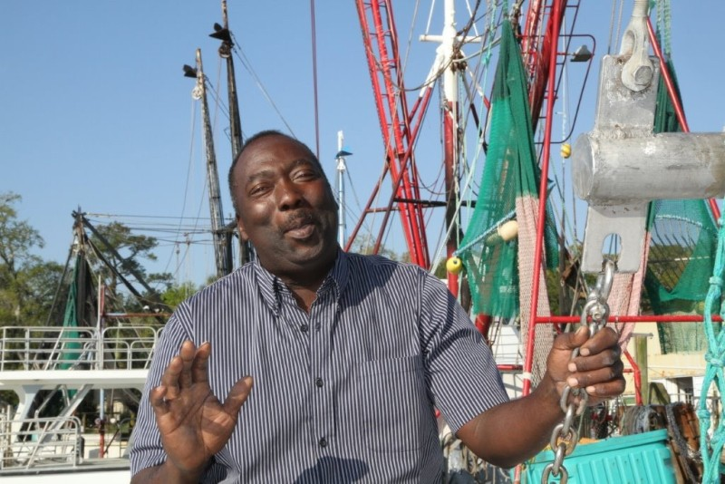Morris Butler has been a fixture in McIntosh County's tight-knit shrimping community for four decades. - KATHLEEN RUSSELL