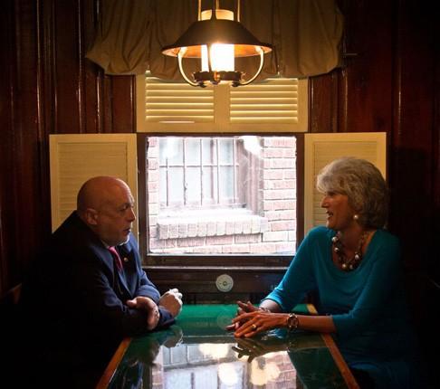 Murray with his Campaign Manager, Maria Pahno Burns - JON WAITS/JWAITSPHOTO