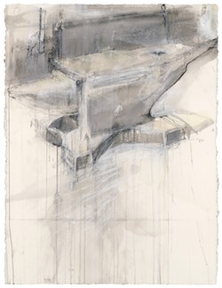 """Mary Hartman, """"Anvil,"""" Pastel, Charcoal and Acrylic Wash on Paper"""
