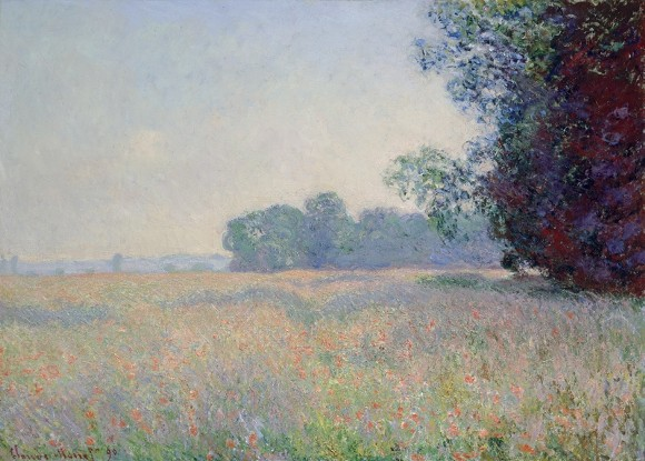 Claude Monet (French, 1840-1926) - Champ d'avoine (Oat Field), 1890 - Oil on canvas, 26 x 36 7/16 inches - Samuel P. Harn Museum of Art, University of Florida - Gift of Michael A. Singer - 1999.6