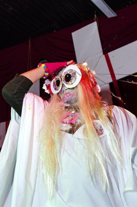 Monster C**t overlooks her congregation. - DAVE SPANGENBURG