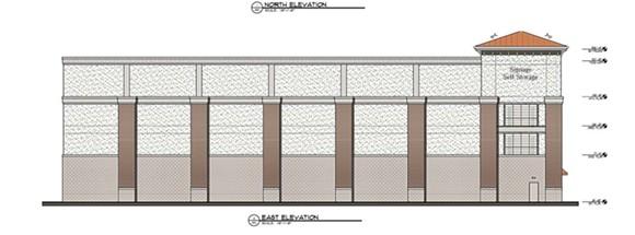 Rendering of proposed self-storage warehouse