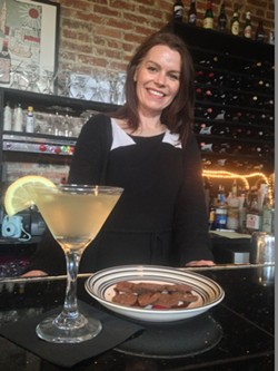 "Janine Finn of Lulu's Chocolate Bar presents her take on the ""Spartini,"" inspired by coastal Georgia's marsh grass."