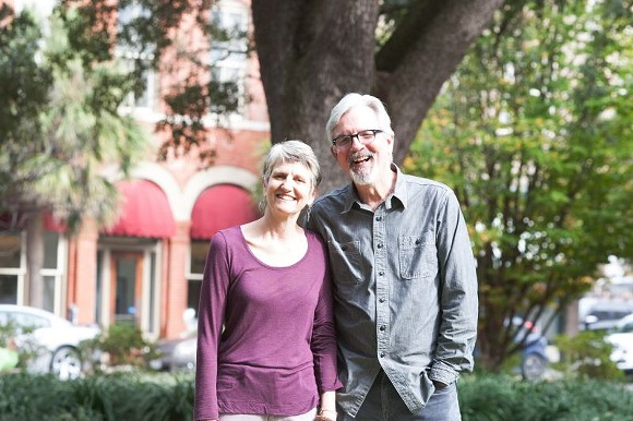 Ann Curry and Rev. Enoch Hendry have lived on the top floor of historic Trinity UMC for 14 years. The reverend retires at the end of May, and it's time to turn in the keys. - PHOTO BY LYN BONHAM