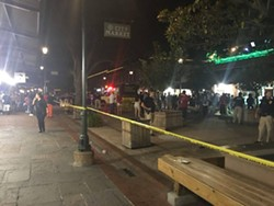 The scene about 1 a.m. in City Market - PHOTO BY TAYLOR MCMASTERS