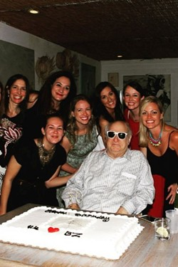 "A few members of ""Zarem's Harem"" celebrate the 80th birthday of the PR legend."