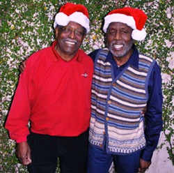 The legendary Ben Tucker and Teddy Adams smile for the camera at a past Christmas Concert.