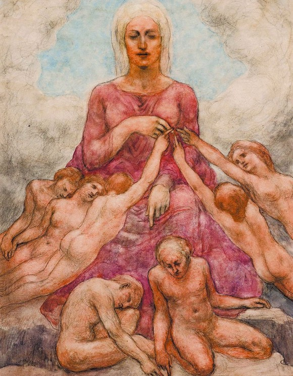Mother Earth from The Earth Gods, c. 1931 - Watercolor and pencil on paper - 11 x 8 1/2 in. - Gift of Mary Haskell Minis, 1950