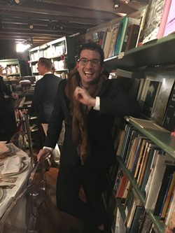 Consummate host and damn good cook Adam Turoni recreated a famous NYC literary gathering at the Book Lady, with a guest list of real life characters