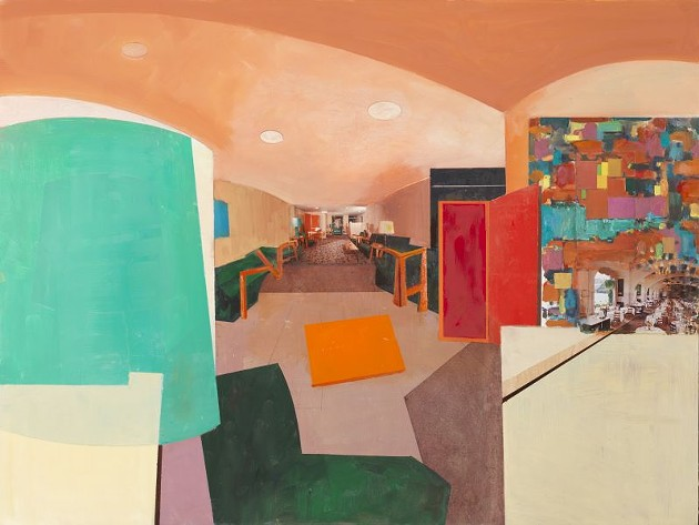 'Lobby Abstract', 2015. William Wegman. Courtesy Sperone Westwater Gallery, New York.
