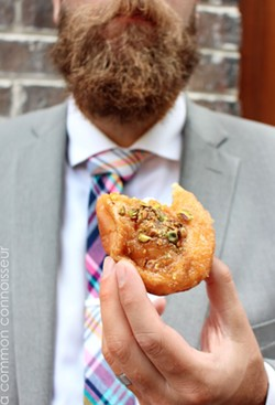 A New School pineapple-basil donut_with pistachios
