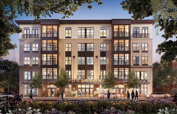 A rendering of the proposed building, courtesy of the developer.