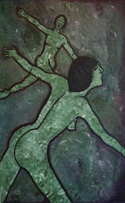 """""""Flying Lesbians"""" by Karen Abato."""