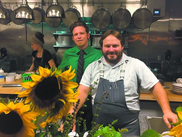 Front of house manager Josh Heaton and executive chef Brandon Carter.
