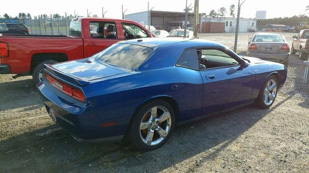 The internet-famous Blue Dodge Challenger, reborn off of River Street and ready for its new life. - PHOTO COURTESY OF STONE STAIRS OF DEATH