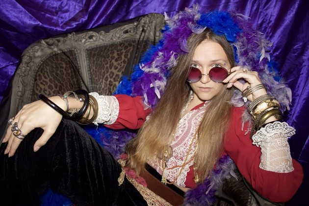 Valore as Janis Joplin at Jinx-O-Ween