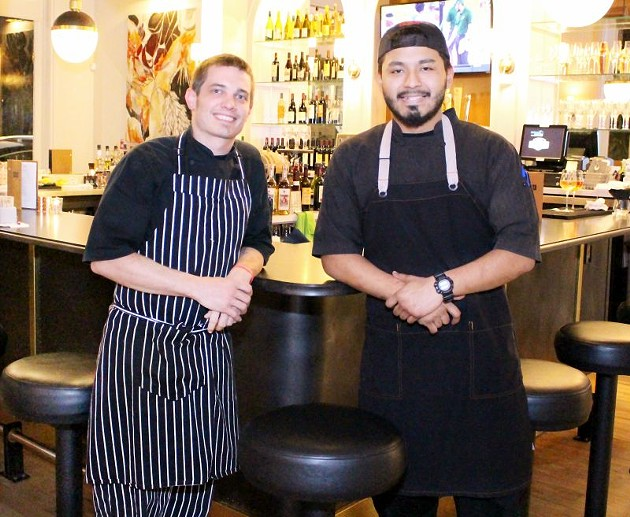 Executive Chef Dan Milner (left) and Sous Chef German Ruiz helm East End's kitchen.