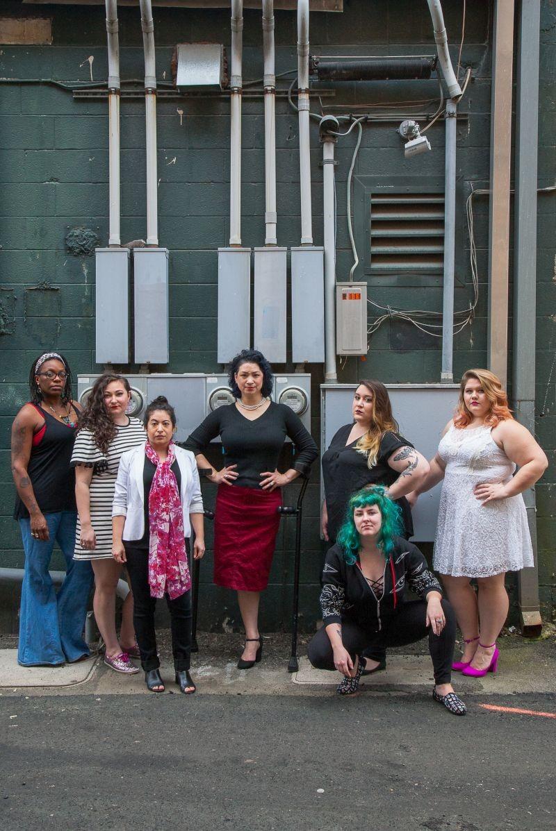 Niema Ross, Lauren Schwan, JinHi Soucy Rand, Erin Muller, Kaya Fisher, and Katelynn Moore are all a part of Vagina Monologues' 11-member cast. - JON WAITS | @JWAITSPHOTO