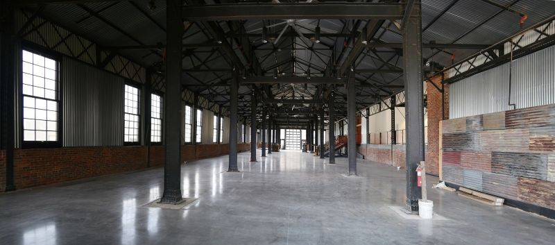 The interior event space of the machine shop after renovations. - PHOTO BY JAMES BYOUS