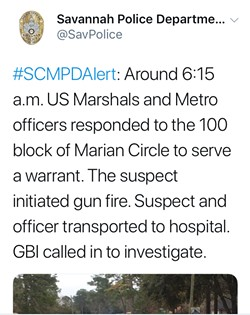 Police tweeted this at 8:03 a.m. January 23, saying Boyd had initiated gun fire; later they said he only had a BB gun.