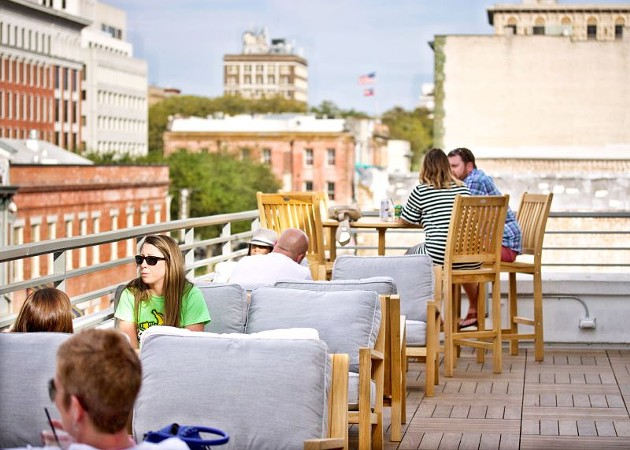 The rooftop bar with spectacular views